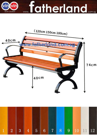 OUTDOOR PARK BENCH MODEL VIN-06SW-EC Series