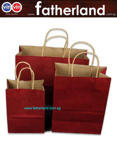 PAPER SOUVENIRS BAG ( DARK RED )