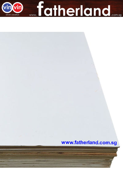 "Plywood 4Ft X 8Ft X 1/2"" ( 1 Side Pvc White)"