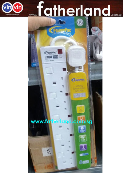 POWERPAC EXTENSION WIRE WITH SURGE PROTECTOR
