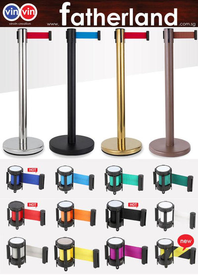 Queue Pole stand Stainless Steel Econmoy