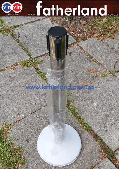 Queue Pole stand Stainless Steel with Red Belt (  CV19 series )