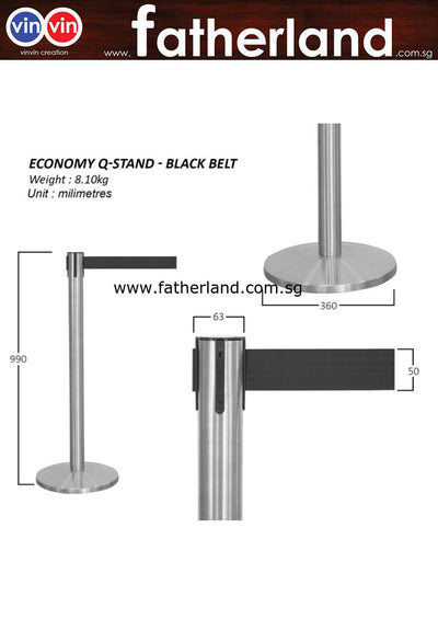 Q-Stand Stainless Steel with Black Belt