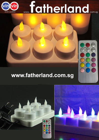 Rechargeable Tea Candle Set ( 6 pcs )