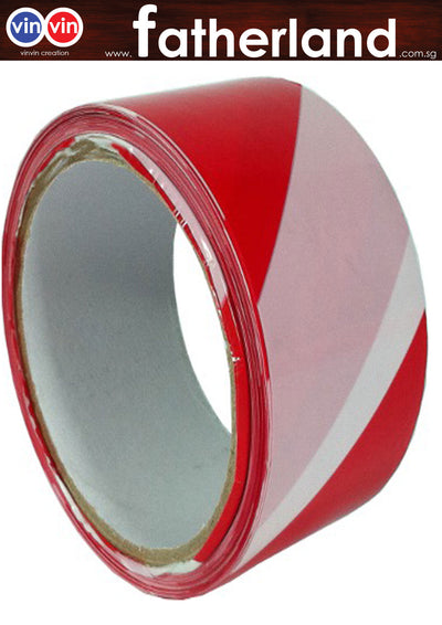 WARNING TAPE 48MMX40M+- (RED/WHITE)