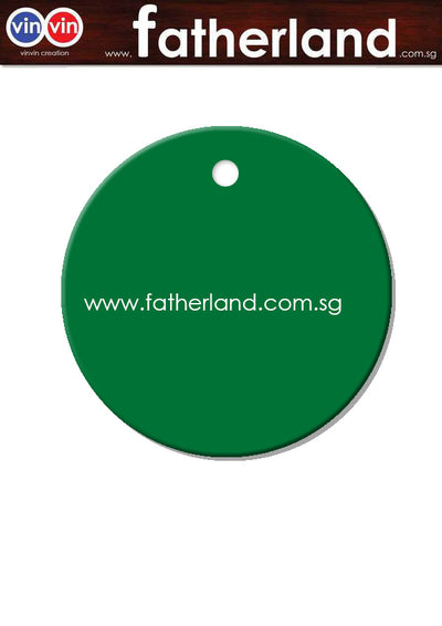 ACRYLIC ROUND TAG WITH HOLE