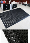 Anti-slip hydrophobic rubber floor mat 900mm x 1500mm