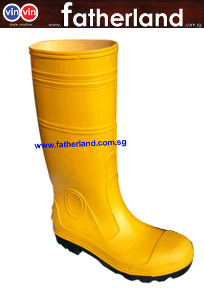 SAFETY RAIN BOOTS W/ STEEL TOE SIZE:10/44