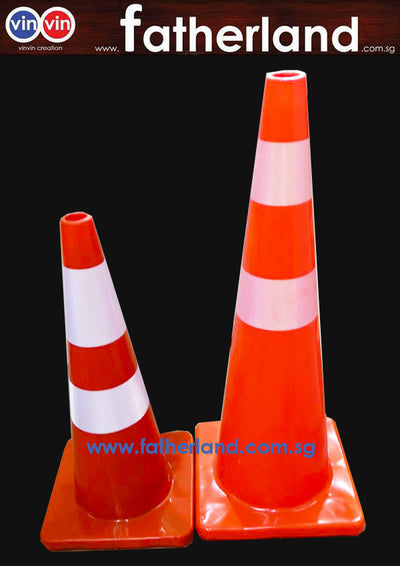 SAFETY CONE 900mm RUBBER TEXTURE TYPE
