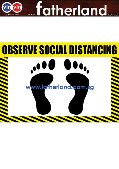 SOCIAL DISTANCING FLOOR MARKER ( YELLOW DESIGN )