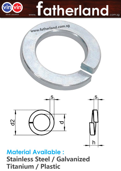 Stainless Steel Spring Washer M10
