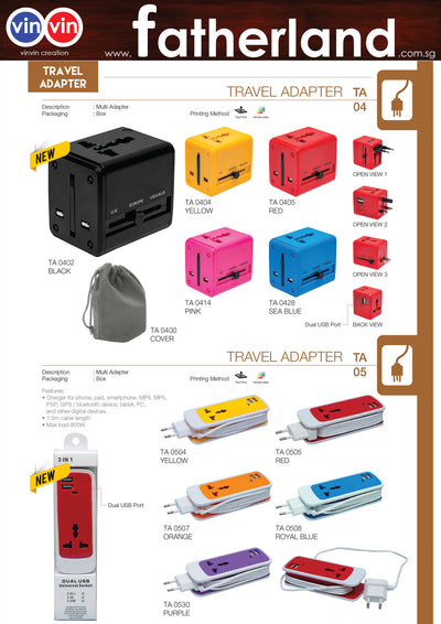 All in One Universal Travel Adaptor Catalog 2