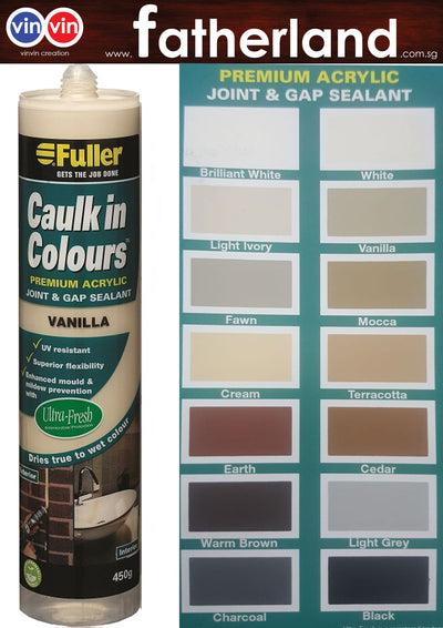 FULLER CAULK IN COLOURS ACRYLIC SEALANT 450G ( VANILLA )