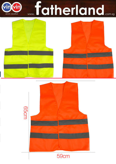 SAFETY REFLECTIVE VEST ( ORANGE MICRO DOT )