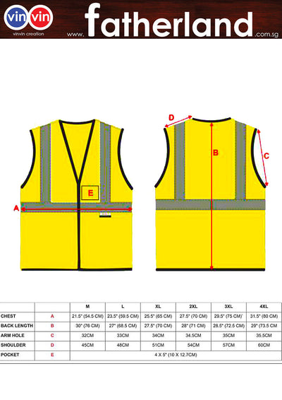 SAFETY REFLECTIVE VEST ( CUSTOM MADE )