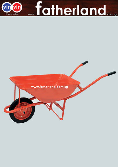 Heavy Duty Wheel Barrow with Welded Body ( Orange  )