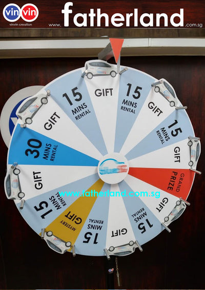WHEEL OF FORTUNE 800MM PORTABLE 3D SERIES WITH CLICKER