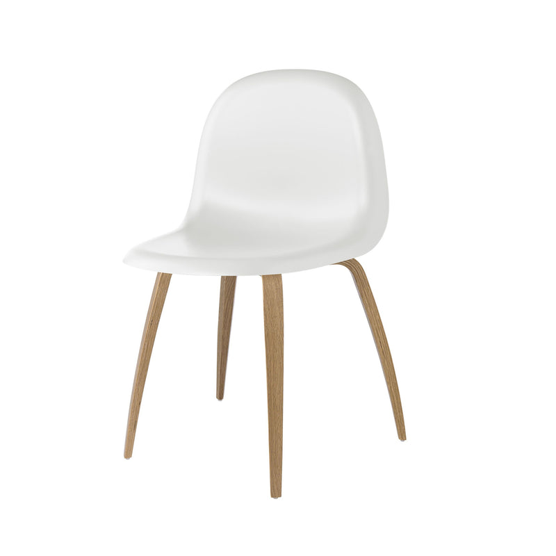 3D Dining Chair Oak/White