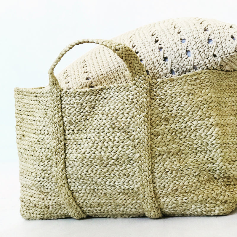 Jumbo Jute Basket Natural