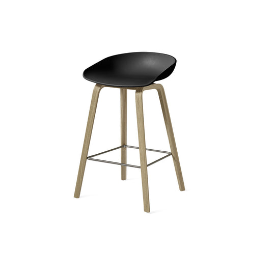 Hay About A Stool Black/Oak