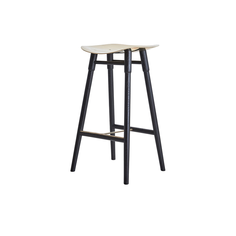 Dowel Stool Black Ebonized