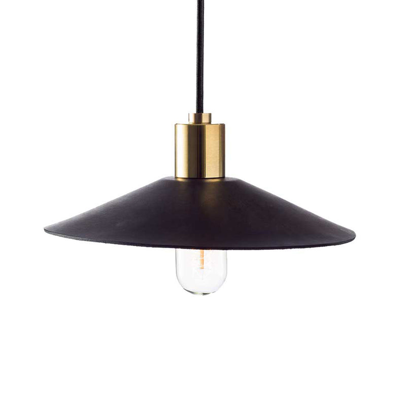 Hide Luxe Leather Pendant Black