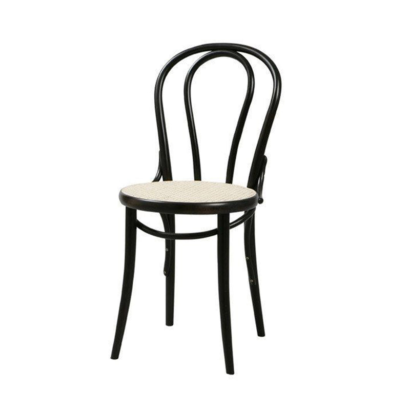 No.18  Chair Black/Cane