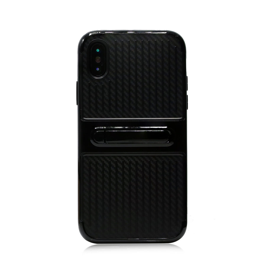Carbon Design iPhone X Kickstand Case - Case'nPoint