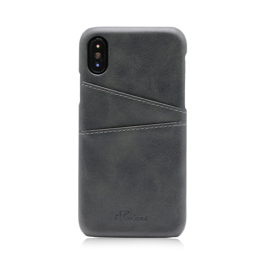 Leather Card Holder iPhone X Case - Case'nPoint