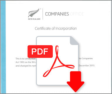 Certificate of Incorporation New Zealand
