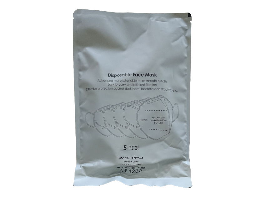 NetPharmacy Personal Protective Disposable KN95 Face Mask X 5