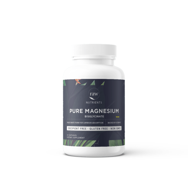 M&R Essentials Natural Supplement Pure Magnesium Bisglycinate