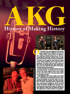 AKG X70: History of Making History