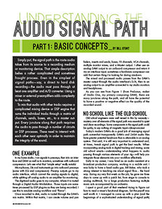 Understanding the Audio Signal Path - Part 1: Basic Concepts