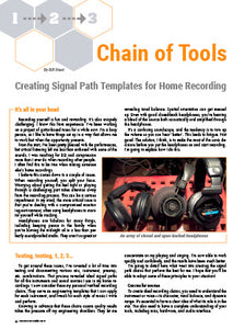 Chain of Tools: Creating Signal Path Templates for Home Recording