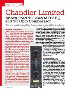 Chandler Limited: Abbey Road TG12345 MKIV EQ and TG Opto Compressor