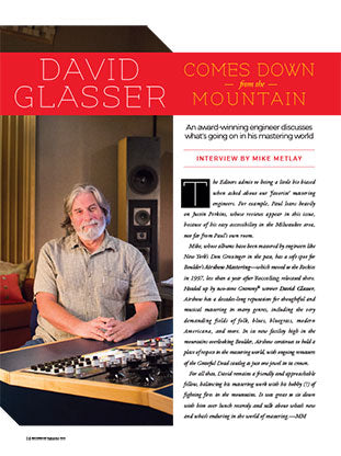 David Glasser Comes Down From The Mountain