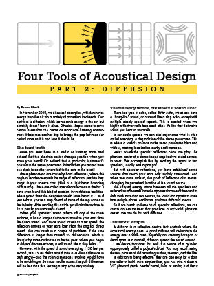 Four Tools of Acoustical Design - Part 2: Diffusion