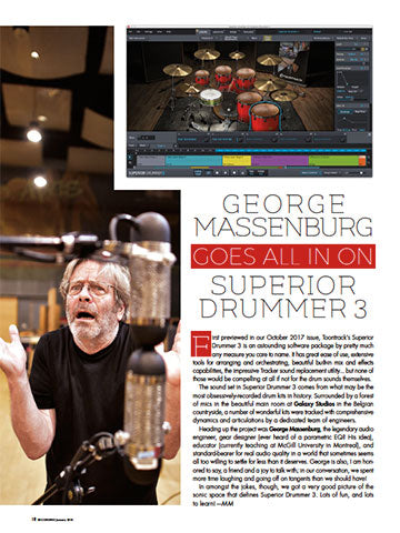 George Massenburg Goes All In On Superior Drummer 3