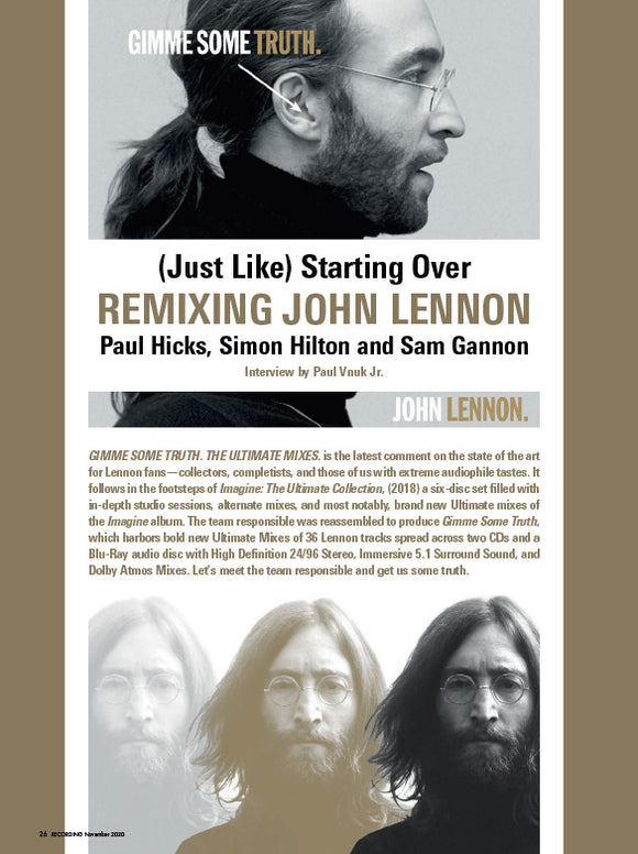 (Just Like) Starting Over – REMIXING JOHN LENNON