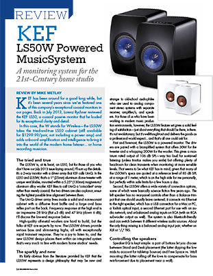 KEF LS50W Powered MusicSystem