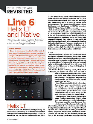 Line 6 HELIX LT and Native