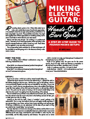 Miking Electric Guitar: Hands-On & Ears Open!