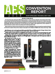AES 2018 Convention Report