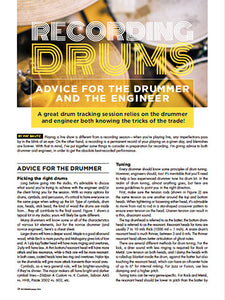 Recording Drums - Advice For The Drummer And The Engineer