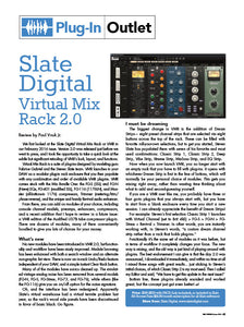Slate Digital Virtual Mix Rack 2.0