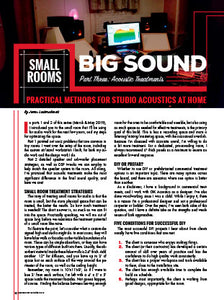 Small Rooms Big Sound - Part 3: Acoustic Treatments