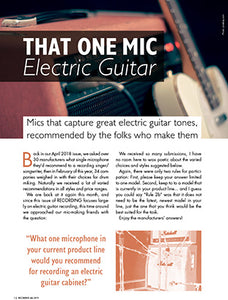 That One Mic: Electric Guitar