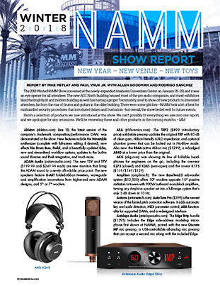 Winter NAMM Show 2018: NEW YEAR – NEW VENUE – NEW TOYS
