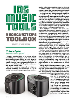 iOS Music Tools: A Songwriter's Toolbox